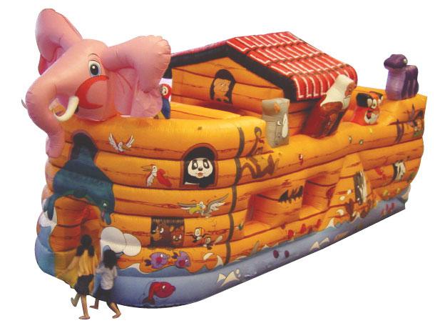 プレイランド型エア遊具【ノアの方舟】