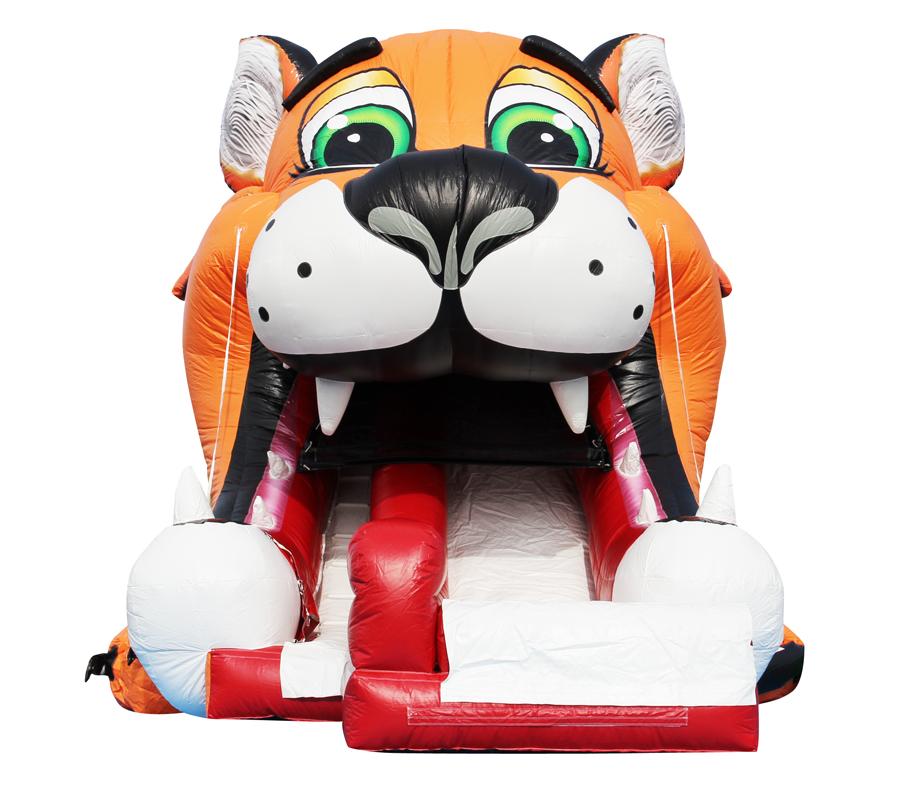 【イベントレンタル】スライダー型エア遊具【タイガーヘッドスライダー】